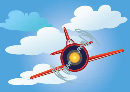 aeronautics: airplane in the sky with clouds