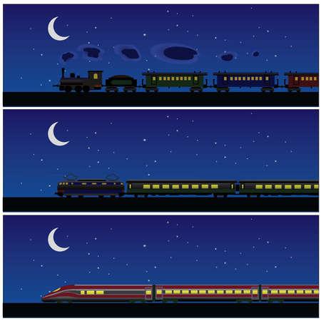 tren bandera historia noche