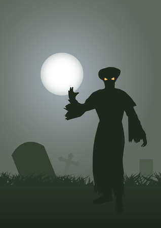 demise: gost in cemetery halloween