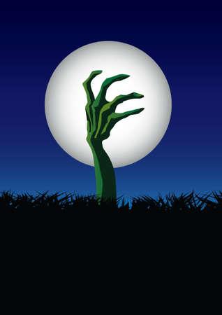 demise: zombie hand halloween Illustration