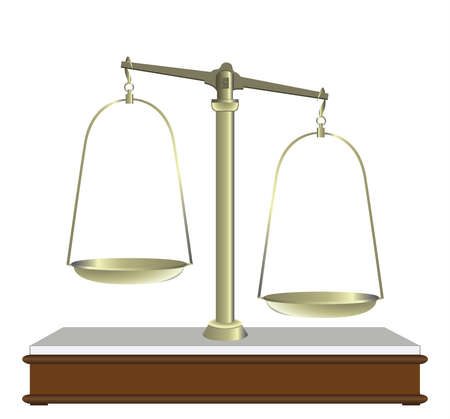 Balance for food diet and justice  Vector