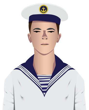 seaman: Sailor military with uniform and hat