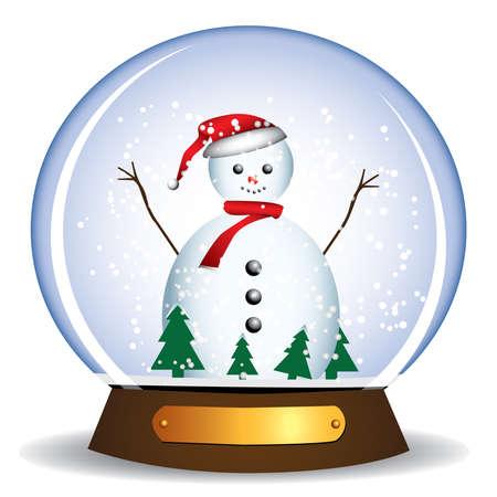snowman in the glass globe