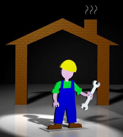 home worker hydraulic repairman