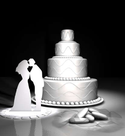 comfit: wedding cake and comfit