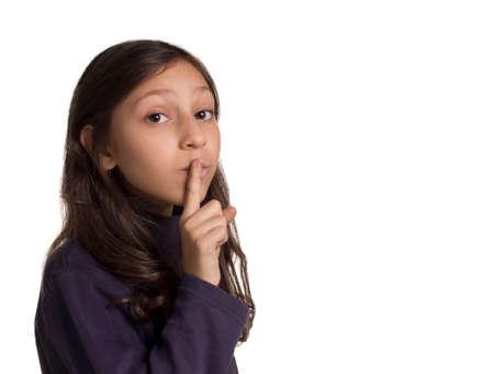 fingering: girl making silence gesture fingering