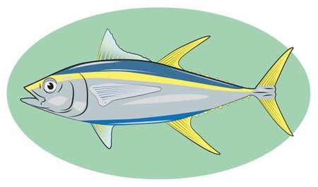 salmon leaping: tona fish marine ocean food nature