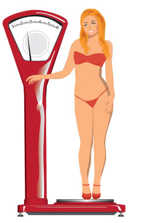 Balance for diet Illustration