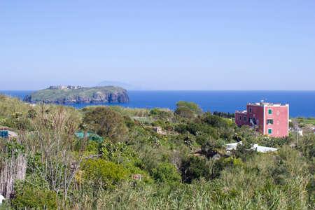 pontine: nature and santo stefano view Stock Photo