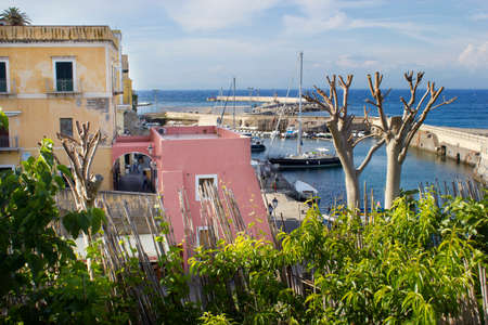 pontine: ancient roman harbour of ventotene Stock Photo