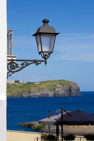 pontine: view of ventotene Stock Photo
