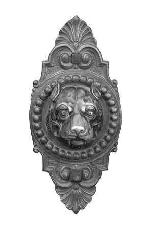 isolated door knocker dog photo