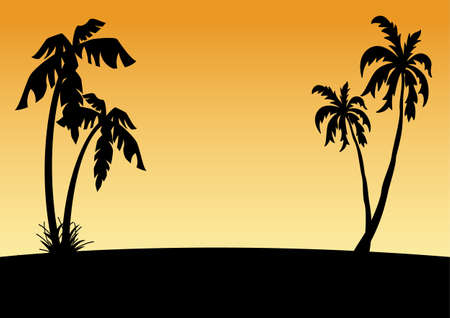 palmtree: tropical beach Illustration