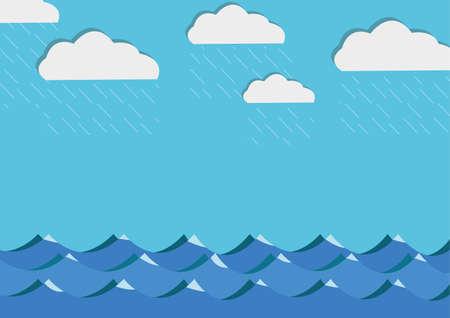 sea and rain