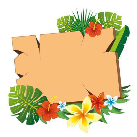 natures: floreal signboard Illustration
