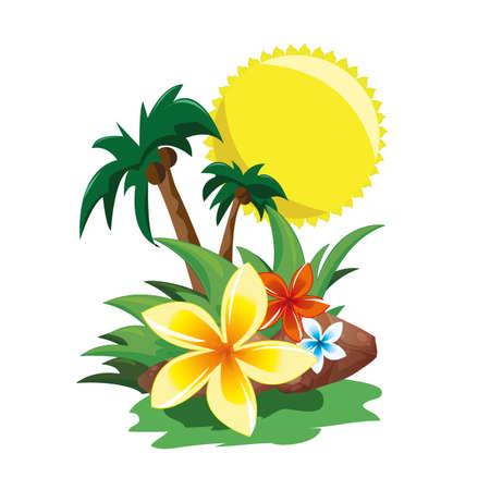 natures: tropical paradise Illustration