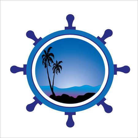 ruder: tropische Landschaft im Ruder