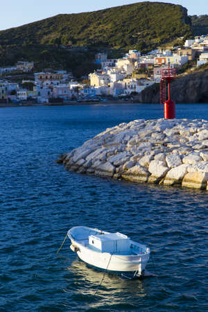 pontine: boat harbor in Ponza