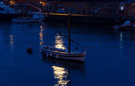 boat harbor in Ponza