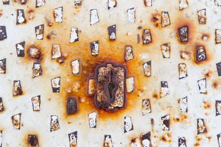 manhole: manhole with rust