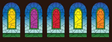 church interior: Gothic window