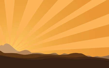 golden dusk: desert Illustration