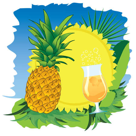 pineapple juice: sun and flowers pineapple juice