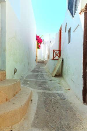 emporium: santorini greek island street typical