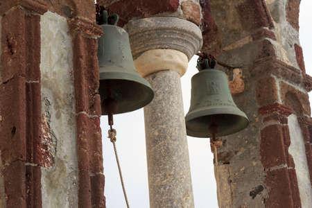 church bell: orthodox church bell santorini greece