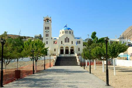 emporium: orthodox church bell santorini greece emporium Stock Photo