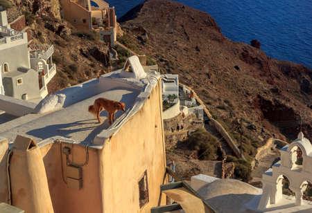 oia: view of oia santorini greece Stock Photo