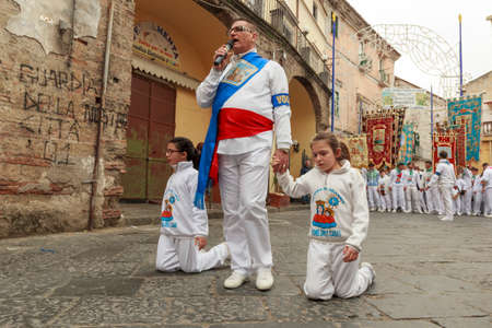 christian festival: religious festival in southern Italy Aversa in the 28 March 2016 Editorial