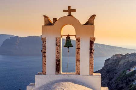orthodox church bell santorini greece
