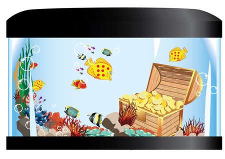 fishtank: aquarium life and treasure