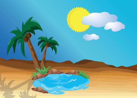 an oasis: desert oasis
