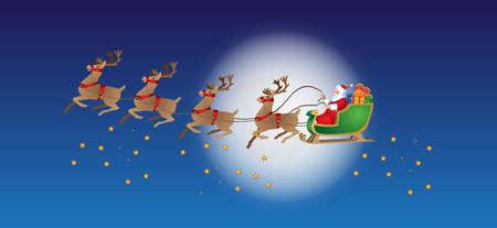 xmas santa claus scenes Illustration