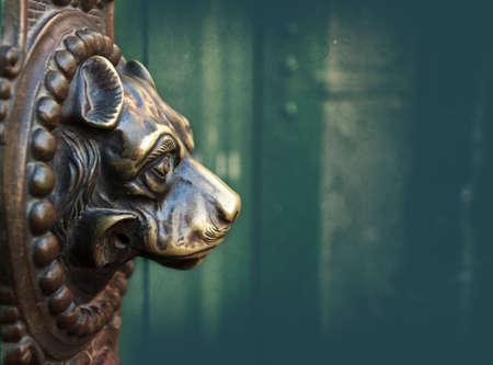 vintage dog door knocker bronze