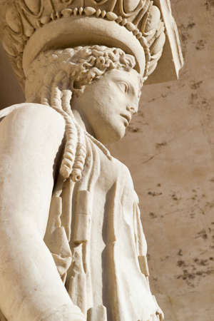 caryatid in archaeological museum of campi flegrei
