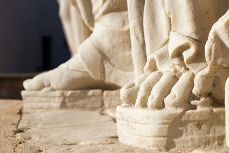 foot detail caryatid ancient statue