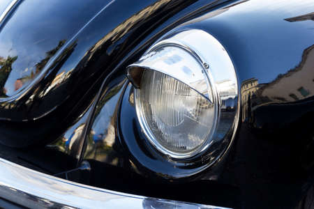 grille: vintage car detail light and turn signal