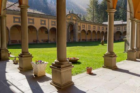 ancient monastery of borgo di rio italy Editorial