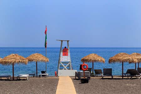 perissa beach santorini greece europe