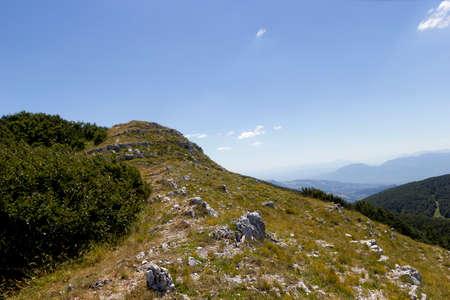 Mutria mountain view in matese park Stock Photo