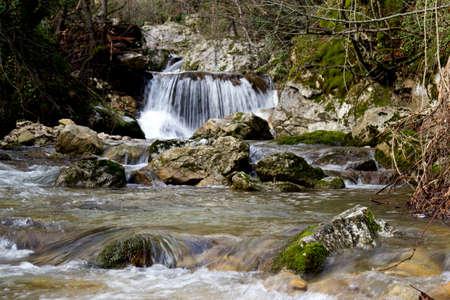 detail of waterfall on morcone sassinoro