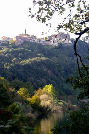 view of genzano lazio and lake nemi