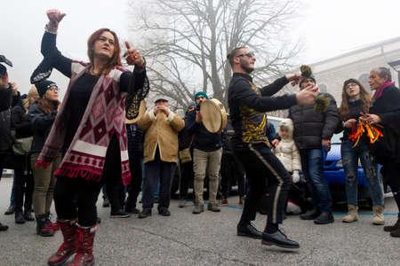 Montevergine 02 February 2019, tradicional italian dance played during candelora
