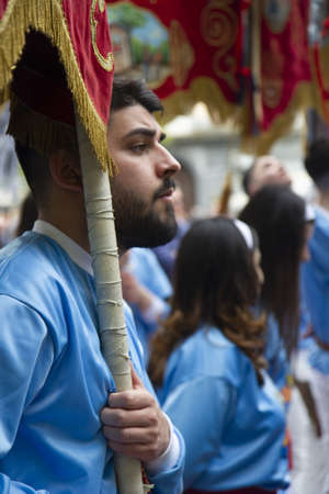 Aversa 22 April 2019, traditional religious event on Monday after Easter 報道画像