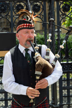 England London 22 june 2019  traditional in the street bagpipe player Sajtókép