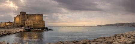 naples castel dell'ovo and sea