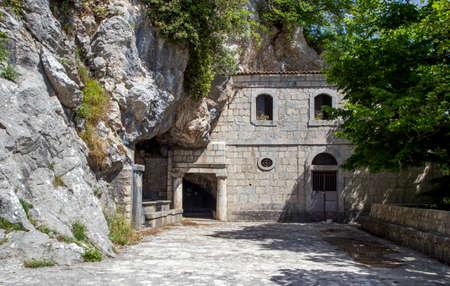 San Silvestro church in Summonte park over Partenio mountains